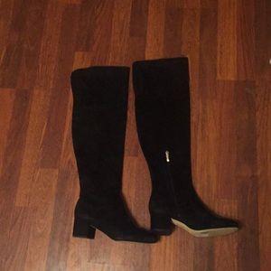 NEW Sam Edelman black suede thigh high boots